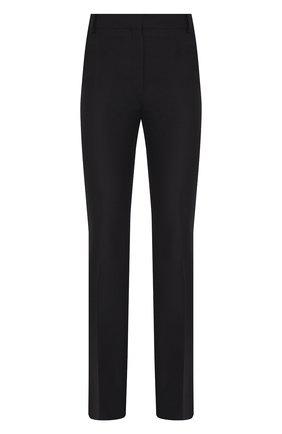 Женские брюки из смеси шелка и шерсти VALENTINO черного цвета, арт. SB0RB3H54W0   Фото 1