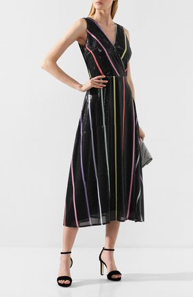 Женское платье с пайетками OLIVIA RUBIN черного цвета, арт. 0R0169/THEA DRESS | Фото 2