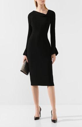 Женское платье ROLAND MOURET черного цвета, арт. PW19/S0647/F2196   Фото 2
