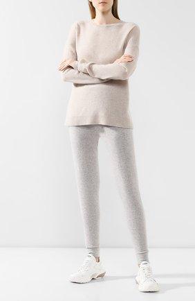 Женские кашемировые брюки-скинни LE KASHA светло-серого цвета, арт. KENYA00 | Фото 2