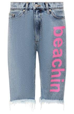 Женские джинсовые шорты NATASHA ZINKO голубого цвета, арт. PF19308-86 | Фото 1
