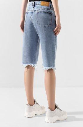 Женские джинсовые шорты NATASHA ZINKO голубого цвета, арт. PF19308-86 | Фото 4