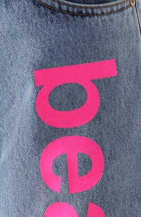 Женские джинсовые шорты NATASHA ZINKO голубого цвета, арт. PF19308-86 | Фото 5