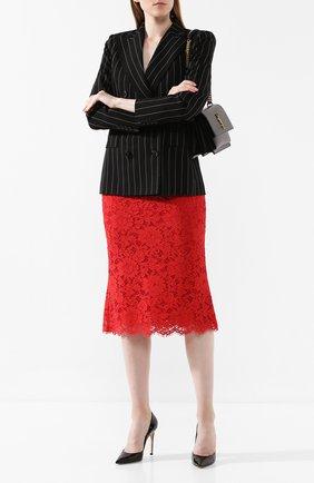 Женская кружевная юбка DOLCE & GABBANA красного цвета, арт. F4ATMT/FLM9V | Фото 2