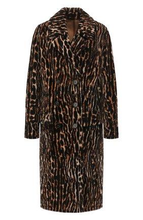 Женское меховое пальто YVES SALOMON леопардового цвета, арт. 20WYM61908MERL | Фото 1