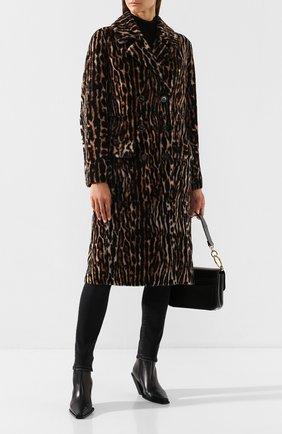 Женское меховое пальто YVES SALOMON леопардового цвета, арт. 20WYM61908MERL | Фото 2
