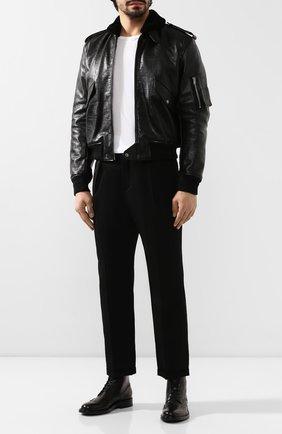 Мужская дубленка SAINT LAURENT черного цвета, арт. 577687/YC2YW | Фото 2