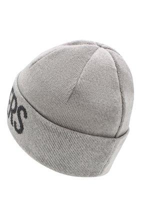 Мужская шерстяная шапка PARAJUMPERS серого цвета, арт. HA16/PARAJUMPERS HAT | Фото 2