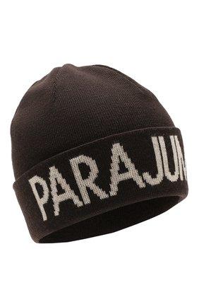 Мужская шерстяная шапка PARAJUMPERS темно-коричневого цвета, арт. HA16/PARAJUMPERS HAT | Фото 1