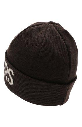 Мужская шерстяная шапка PARAJUMPERS темно-коричневого цвета, арт. HA16/PARAJUMPERS HAT | Фото 2