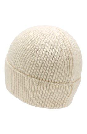 Мужская шерстяная шапка PARAJUMPERS белого цвета, арт. HA12/PLAIN BEANIE | Фото 2