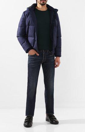 Мужские кожаные кеды ZEGNA COUTURE черного цвета, арт. A4294X-LHSWI | Фото 2