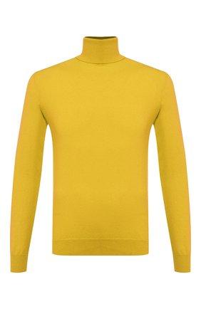 Мужской кашемировая водолазка RALPH LAUREN желтого цвета, арт. 790766636 | Фото 1
