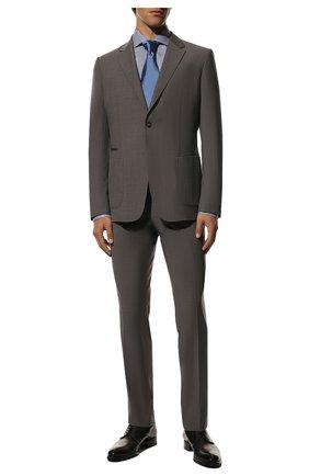 Мужская хлопковая сорочка TOM FORD синего цвета, арт. 6FT124/94S1AX | Фото 2