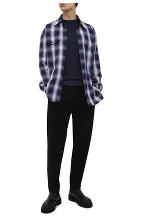 Мужской шерстяной джемпер DANIELE FIESOLI темно-синего цвета, арт. DF 0002/T | Фото 2
