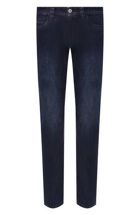 Мужские джинсы LORO PIANA темно-синего цвета, арт. FAG4845 | Фото 1