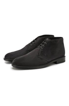 Мужские замшевые ботинки TOD'S темно-серого цвета, арт. XXM45A00D82RE0 | Фото 1