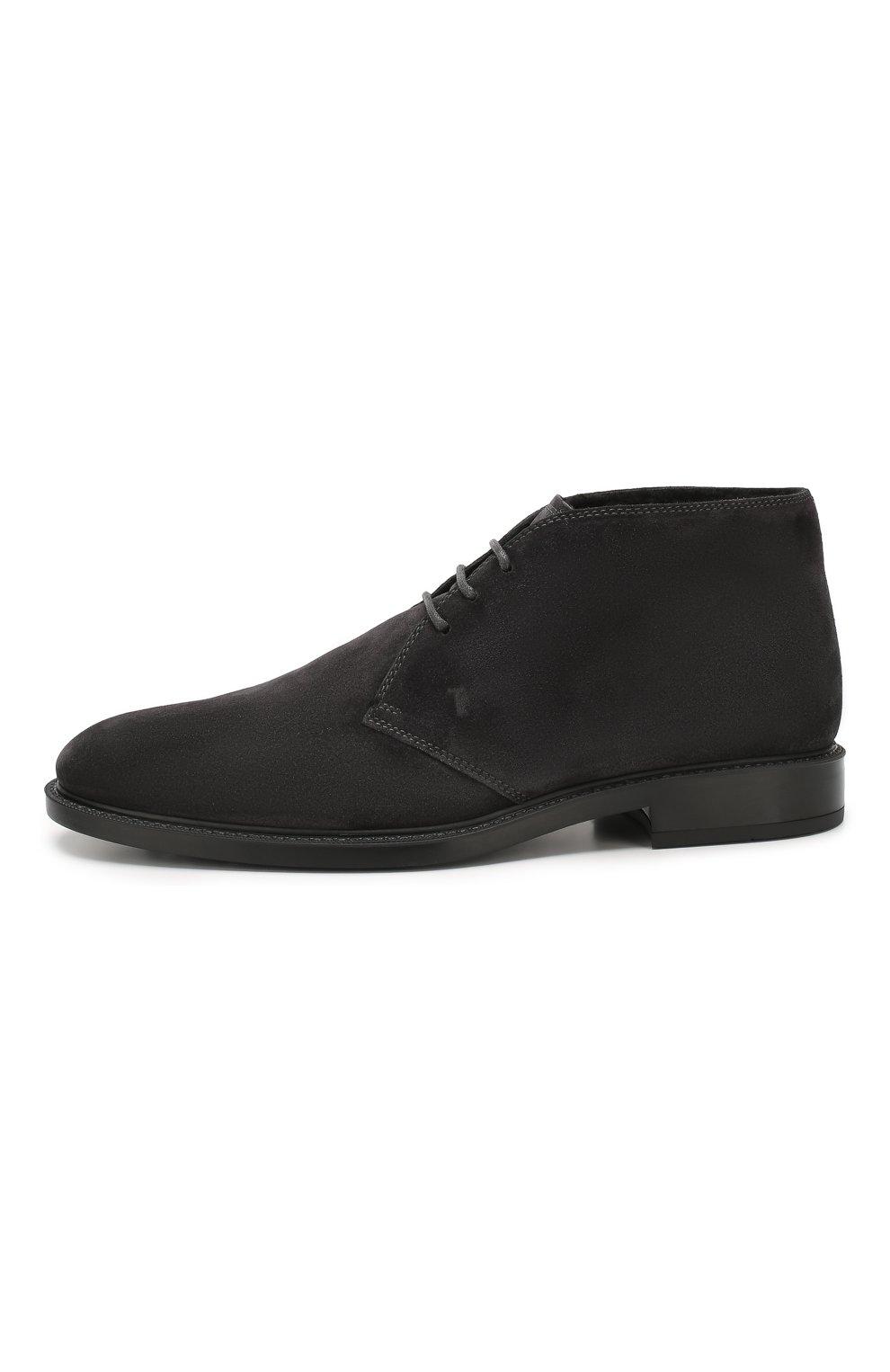 Мужские замшевые ботинки TOD'S темно-серого цвета, арт. XXM45A00D82RE0 | Фото 3