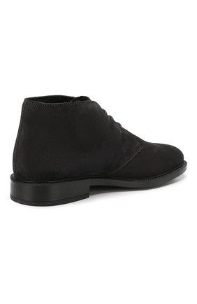 Мужские замшевые ботинки TOD'S темно-серого цвета, арт. XXM45A00D82RE0 | Фото 4