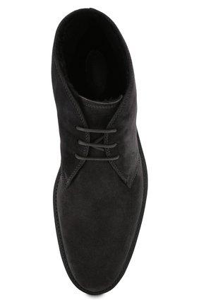Мужские замшевые ботинки TOD'S темно-серого цвета, арт. XXM45A00D82RE0 | Фото 5