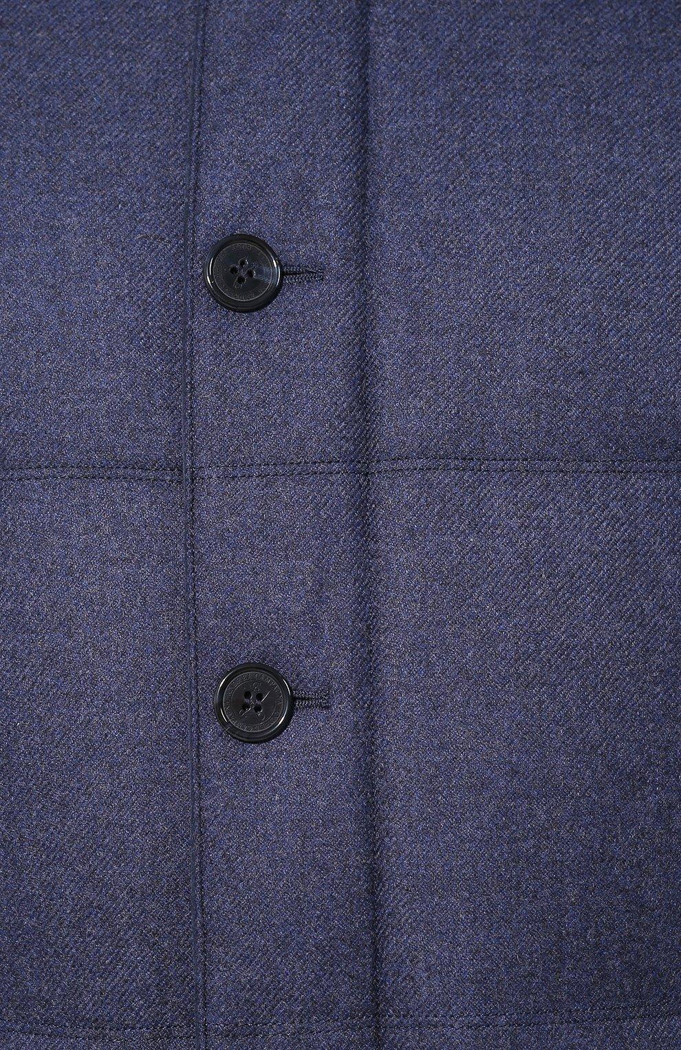 Мужской пуховый бомбер ANDREA CAMPAGNA синего цвета, арт. A8T711/3813 | Фото 5 (Кросс-КТ: Куртка; Мужское Кросс-КТ: пуховик-короткий, Пуховик-верхняя одежда, Верхняя одежда; Материал внешний: Шерсть; Рукава: Длинные; Принт: Без принта; Материал подклада: Синтетический материал; Длина (верхняя одежда): Короткие; Материал утеплителя: Пух и перо; Стили: Кэжуэл)