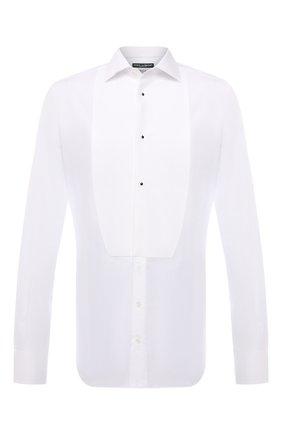 Мужская хлопковая сорочка DOLCE & GABBANA белого цвета, арт. G5EN5T/FU5K9 | Фото 1