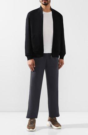 Мужской шерстяные брюки BRIONI темно-серого цвета, арт. UJBI0L/08626 | Фото 2