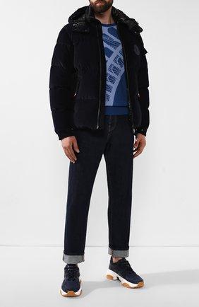 Мужские комбинированные кроссовки TOD'S темно-синего цвета, арт. XXM57B0BL40M7A | Фото 2