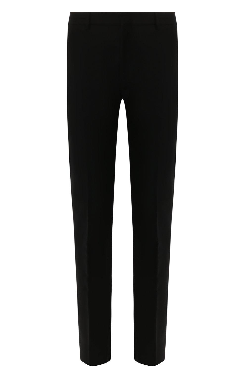 Мужские шерстяные брюки BOTTEGA VENETA черного цвета, арт. 564862/VA8P1 | Фото 1