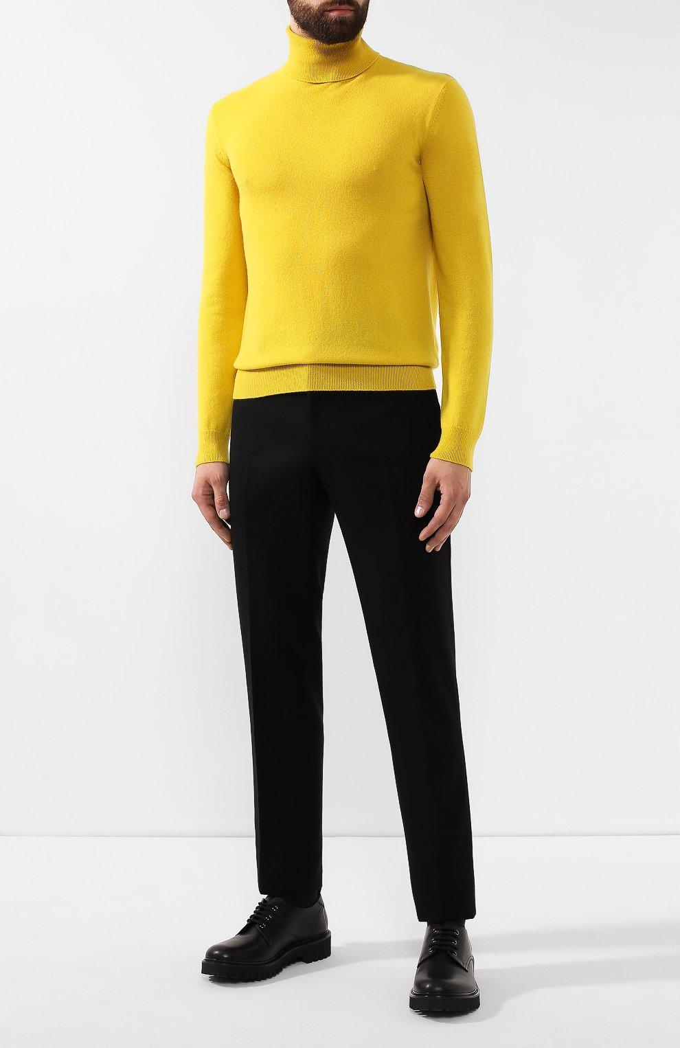 Мужские шерстяные брюки BOTTEGA VENETA черного цвета, арт. 564862/VA8P1 | Фото 2
