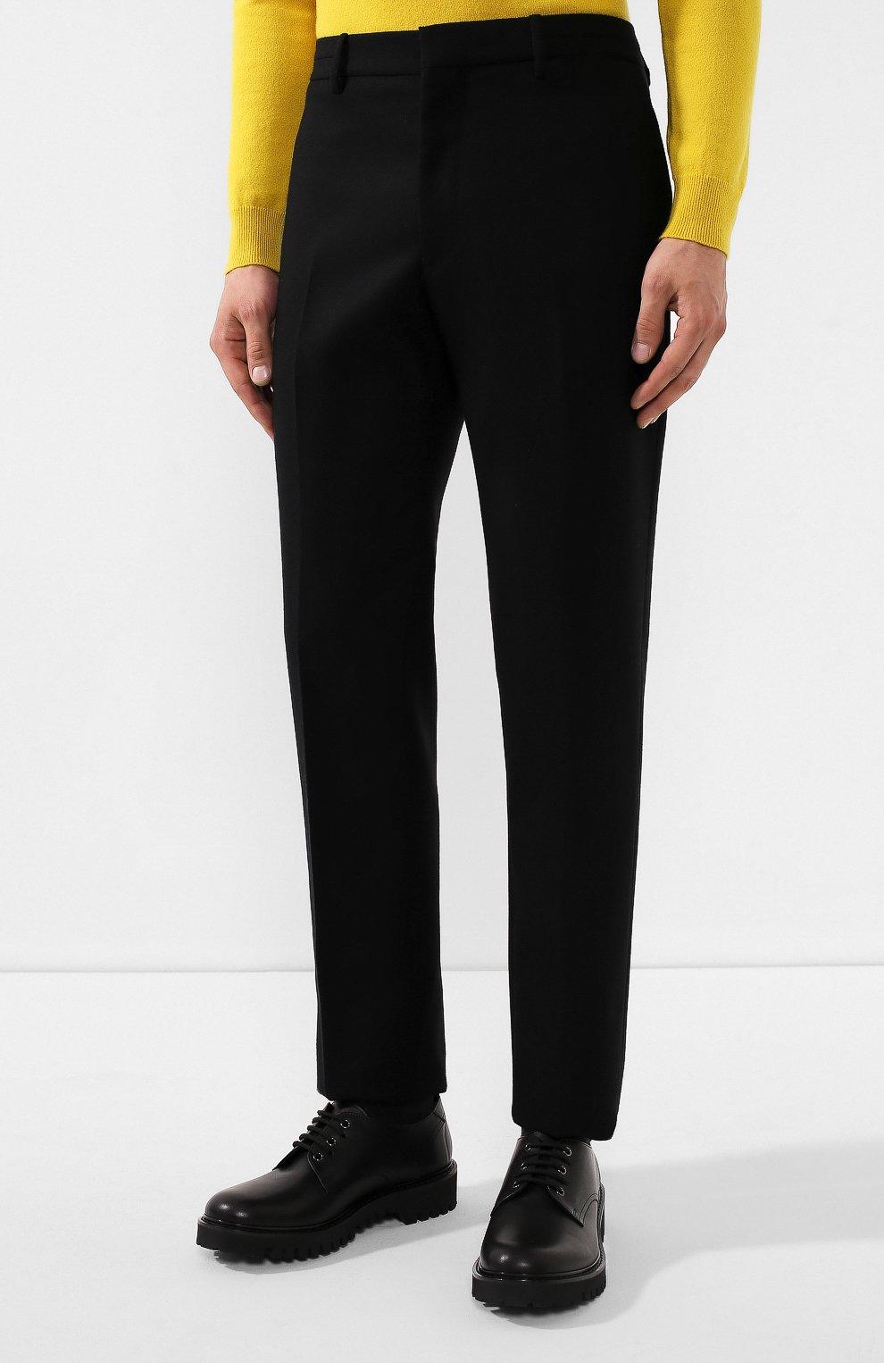 Мужские шерстяные брюки BOTTEGA VENETA черного цвета, арт. 564862/VA8P1 | Фото 3