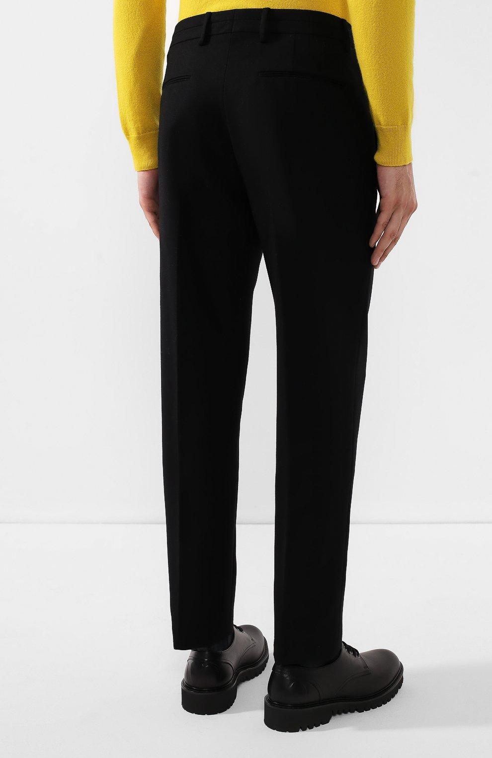 Мужские шерстяные брюки BOTTEGA VENETA черного цвета, арт. 564862/VA8P1 | Фото 4