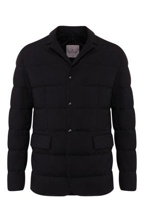 Мужская пуховая куртка heliere MONCLER темно-синего цвета, арт. E2-091-30318-00-53132 | Фото 1
