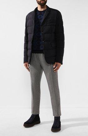 Мужская пуховая куртка heliere MONCLER темно-синего цвета, арт. E2-091-30318-00-53132 | Фото 2