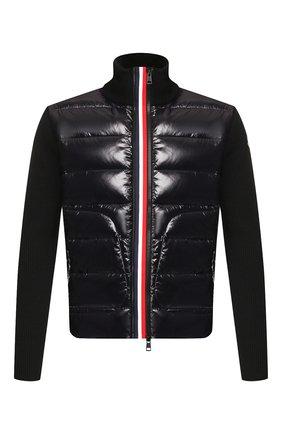 Мужская комбинированный кардиган MONCLER черного цвета, арт. E2-091-94166-00-9699Z | Фото 1