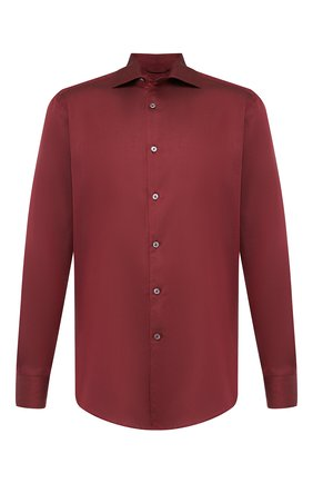 Мужская хлопковая сорочка ERMENEGILDO ZEGNA бордового цвета, арт. UTX35/SRF5 | Фото 1