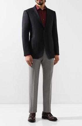Мужская хлопковая сорочка ERMENEGILDO ZEGNA бордового цвета, арт. UTX35/SRF5 | Фото 2