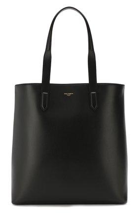 Мужская кожаная сумка-шопер monreale DOLCE & GABBANA черного цвета, арт. BM1707/AC954 | Фото 1