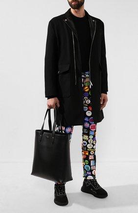 Мужская кожаная сумка-шопер monreale DOLCE & GABBANA черного цвета, арт. BM1707/AC954 | Фото 2