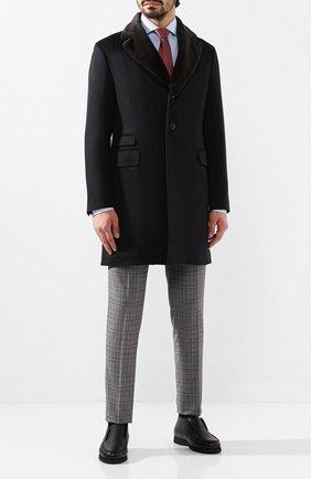 Мужские кожаные ботинки ANDREA CAMPAGNA черного цвета, арт. 390001.91.140 | Фото 2