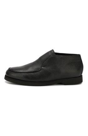 Мужские кожаные ботинки ANDREA CAMPAGNA черного цвета, арт. 390001.91.140 | Фото 3 (Материал утеплителя: Натуральный мех, Овчина; Мужское Кросс-КТ: Ботинки-обувь, зимние ботинки; Статус проверки: Проверено, Проверена категория; Подошва: Плоская)