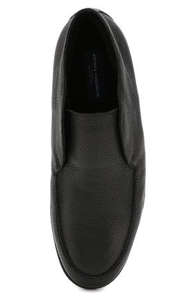 Мужские кожаные ботинки ANDREA CAMPAGNA черного цвета, арт. 390001.91.140 | Фото 5 (Материал утеплителя: Натуральный мех, Овчина; Мужское Кросс-КТ: Ботинки-обувь, зимние ботинки; Статус проверки: Проверено, Проверена категория; Подошва: Плоская)