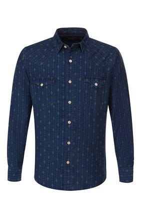 Мужская джинсовая рубашка RRL синего цвета, арт. 782751103 | Фото 1
