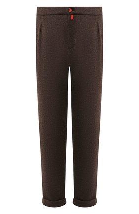 Мужские кашемировые брюки KITON коричневого цвета, арт. UFP1LACK01S60 | Фото 1