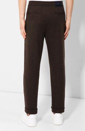 Мужские кашемировые брюки KITON коричневого цвета, арт. UFP1LACK01S60 | Фото 4