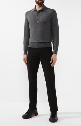 Мужское шерстяное поло TOM FORD серого цвета, арт. BTM94/TFK132 | Фото 2