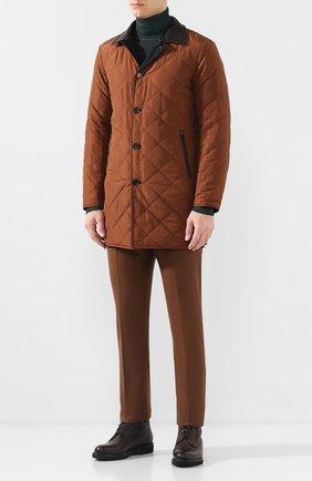 Мужские кожаные ботинки DOUCAL'S коричневого цвета, арт. DU2538PHILUM096NN25 | Фото 2