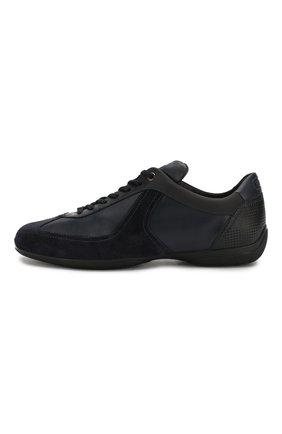 Мужские кожаные кроссовки SANTONI темно-синего цвета, арт. MSAM21196NARRMMYU60 | Фото 3