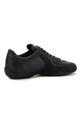 Мужские кожаные кроссовки SANTONI темно-синего цвета, арт. MSAM21196NARRMMYU60 | Фото 4