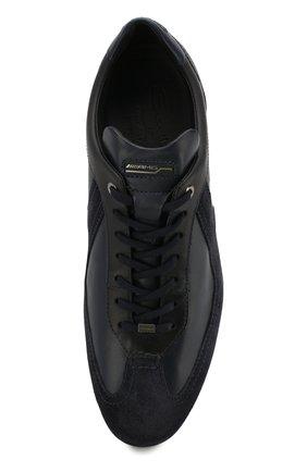 Мужские кожаные кроссовки SANTONI темно-синего цвета, арт. MSAM21196NARRMMYU60 | Фото 5